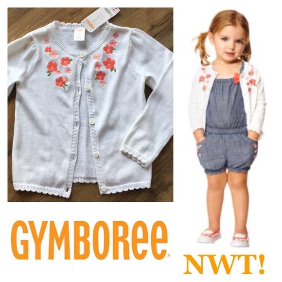 NEW Girls Size 12-18 Months Gymboree Cardigan Sweater Gray 2018 Line NWT